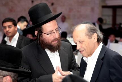 מר יוסף גרינפלד עם הרב אליעזר יוטקובסקי