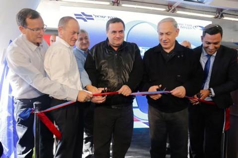 """גזירת הסרט בפתיחת רכבת ישראל בשדרות תשע""""ד"""