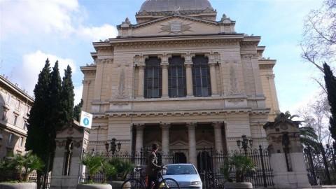 רומא. חזית בית הכנסת הגדול איטליה