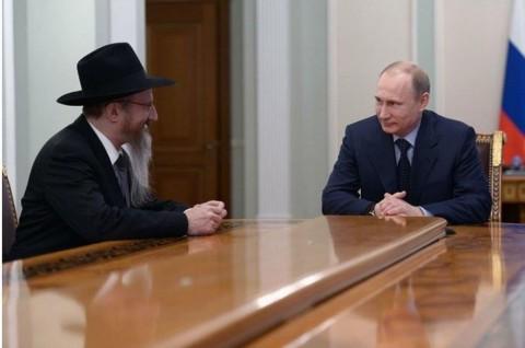 לאזאר הרב הראשי עם פוטין בער''פ ע''ד