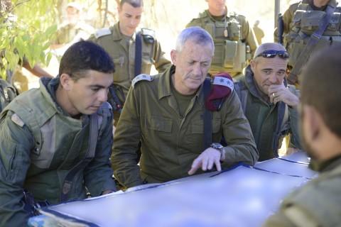 רמטכל עזה 2 חייל גנץ צבא