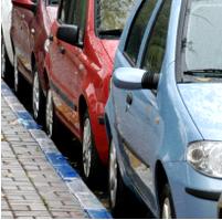 חניה כחול לבן רכב אוטו