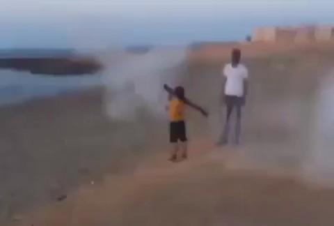 ילד עזה טיל טרור