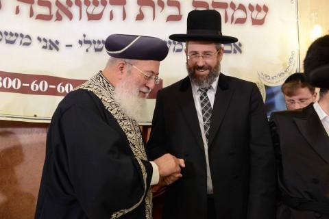 הרב הראשי לישראל הגר''ד לאו עם הגר''ש עמאר