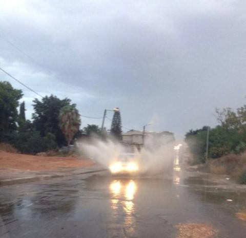 חורף 2014 גשם רכב אוטו