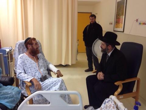 יהודה גליק עם הרב לאו