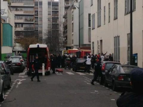 """זירת הפיגוע ב""""שרלי הבדו"""" בצרפת"""