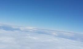 שמים עננים טיסה