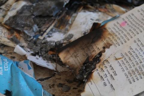 צרת עילית 1 וונדליזם סידור הצתה צילום אלישמע סנדמן