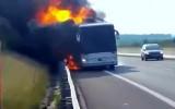 אוטובוס נשרף