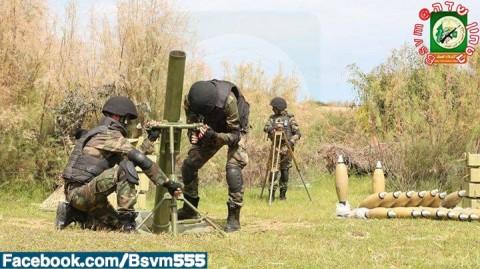 אנשי חמאס בעוד התקפה מגונה