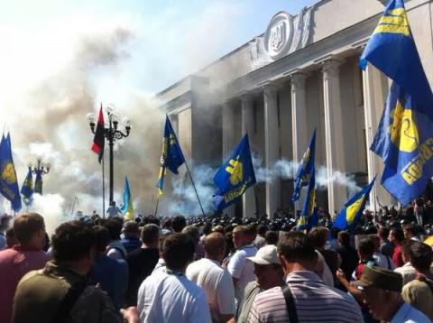 קייב פרלמנט מהומות אוקראינה