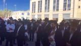 הפגנת ההורים ליד עיריית ירושלים