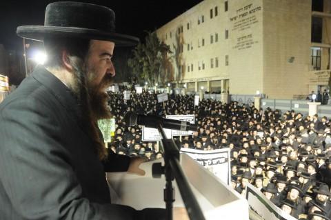 הפגנה נגד הגיוס העדה החרדית (28)