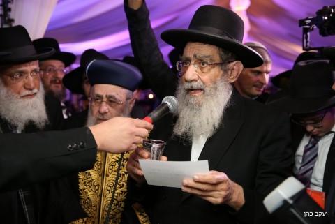 הרב בן שמעון והרב יצחק יוסף חתונה דרעי