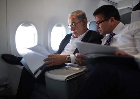 ראש הממשלה בנימין נתניהו וראש המוסד יוסי כהן - צילום לע''מ