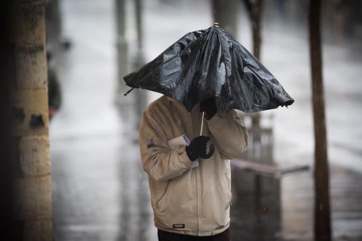 גשם חורף מטריה