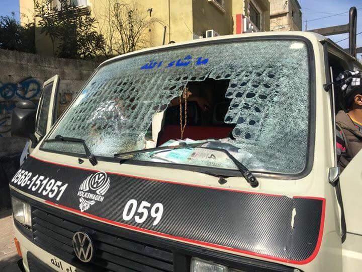 רכב פלסטיני טרור אבנים