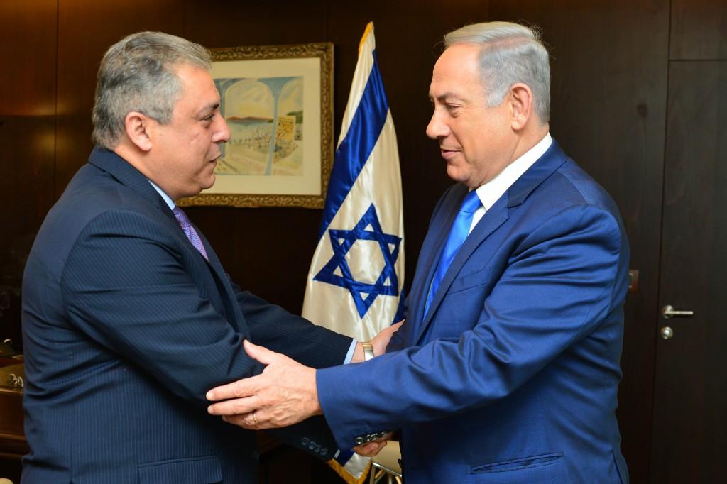 נתניהו ושגריר מצרים בישראל