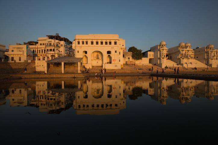 הודו נוף מדבר אגם