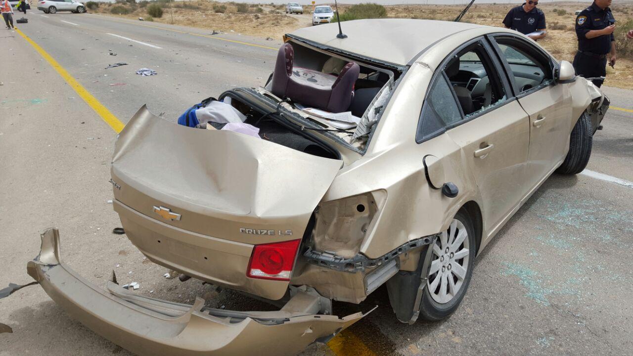 אוטובוס התהפך: הקטל בכבישים: חמישה נפצעו סמוך לירוחם • שניים קשה