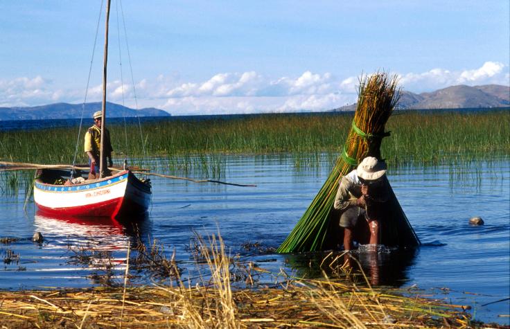 פרו, סירות, מים, נוף, טיול