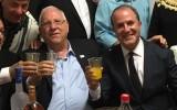 הנשיא ריבלין וראש עירית אשדוד יחיאל לסרי במימונה באשדוד