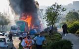 אוטובוס, בוער, אש, ירושלים