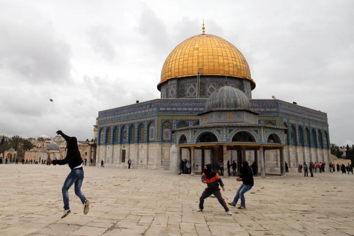 הר הבית, פלסטינים, מתפרעים