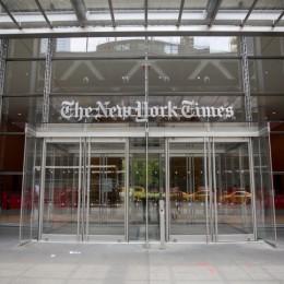 """בניין הניו יורק טיימס במנהטן , ניו יורק , ארה""""ב"""