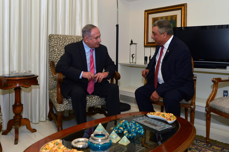 השגריר המצרי בפגישה עם נתניהו