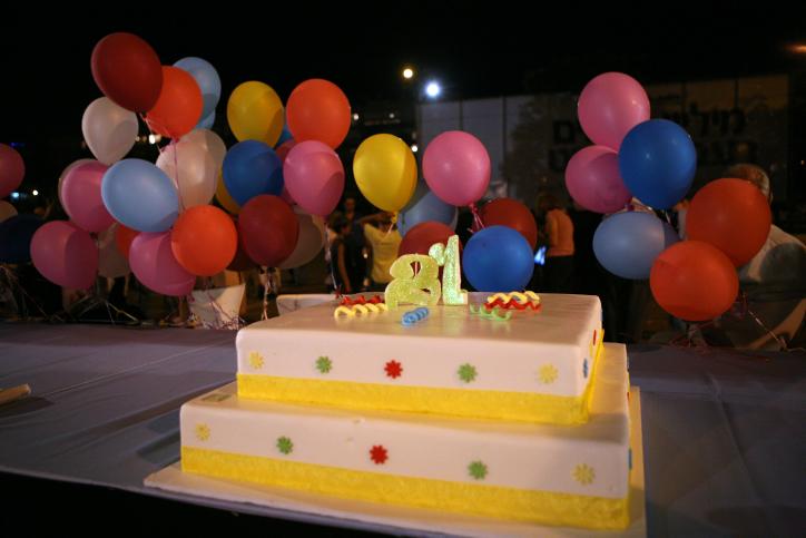 בלונים עוגה
