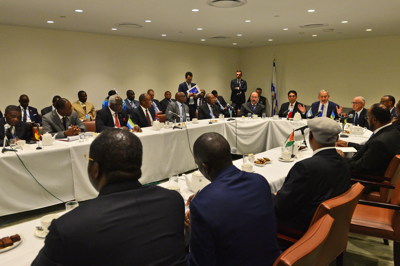 """ראש הממשלה בנימין נתניהו נפגש עם מנהיגים ממדינות אפריקה במטה האו""""ם בניו יורק לאחר נאומו Photo by Kobi Gideon / GPO"""
