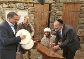 אדלשטיין והשר דרעי בקצרין