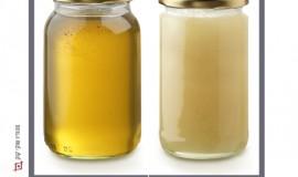 דבש מגובש לעומת נוזלי