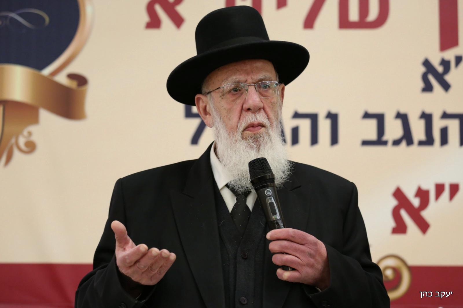 נשיא מועצת חכמי התורה מרן חכם שלום כהן