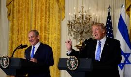 """ראש הממשלה בנימין נתניהו נפגש עם נשיא ארה""""ב דונלד טראמפ בבית הלבן בוושינגטון. צילום אבי אוחיון לע""""מ"""