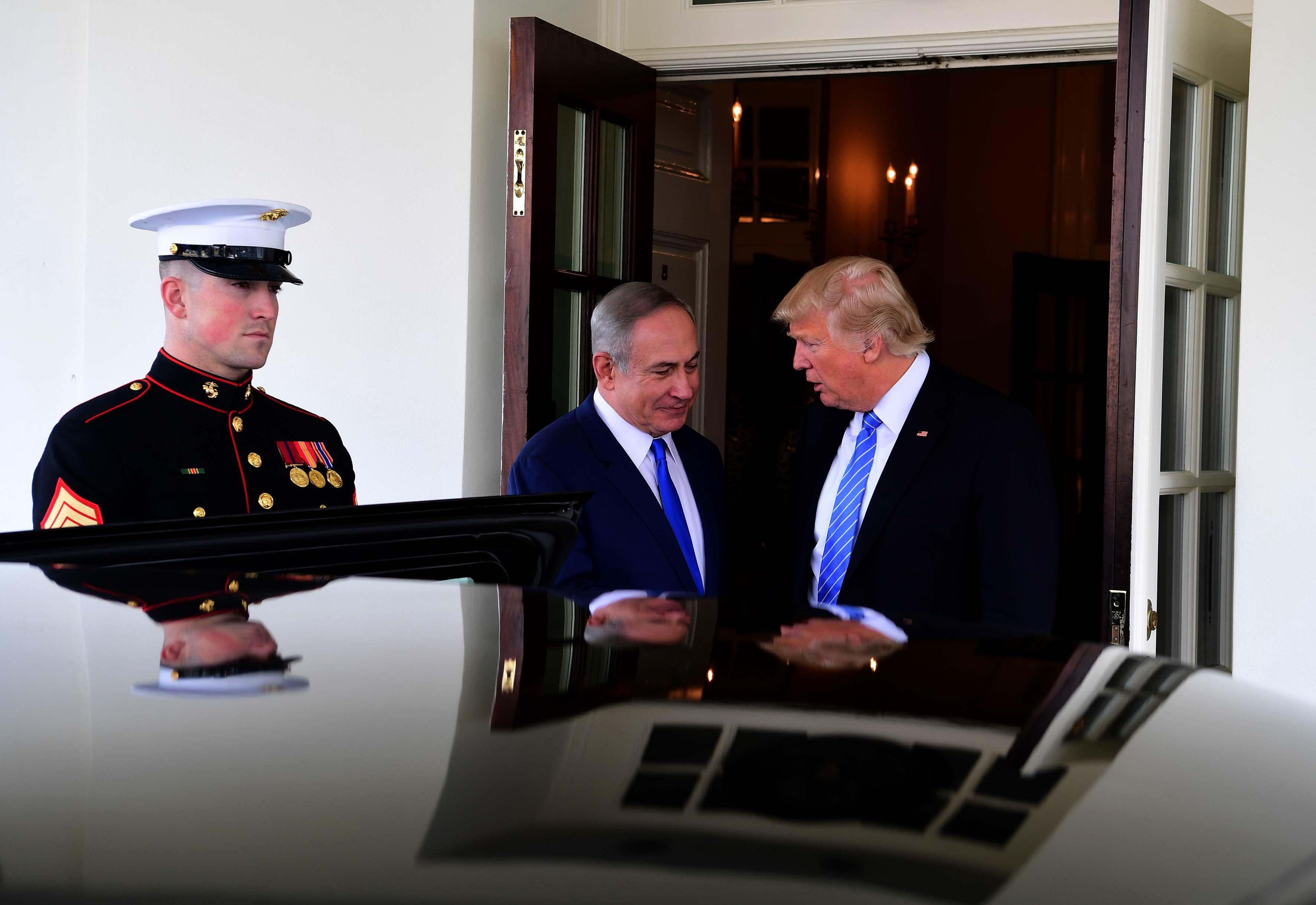 """ראש הממשלה, בנימין נתניהו ונשיא ארה""""ב, דונאלד טראמפ"""