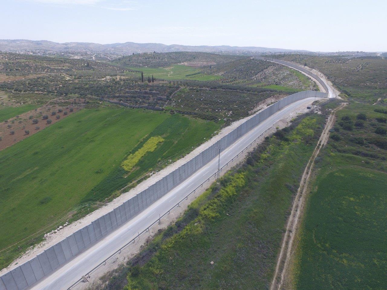הגדר הביטחונית בדרום הר חברון