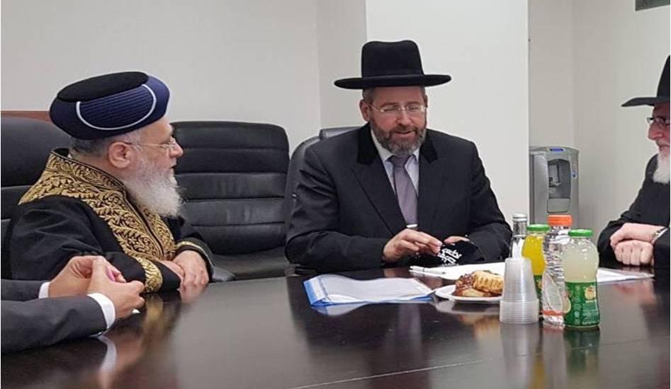 מכירת החמץ של אלעל אצל הרבנים הראשיים לישראל