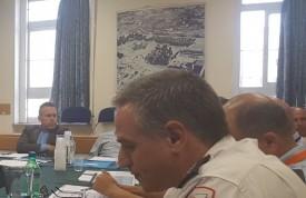 השר לביטחון הפנים, גלעד ארדן בישיבת היערכות ללג' בעומר