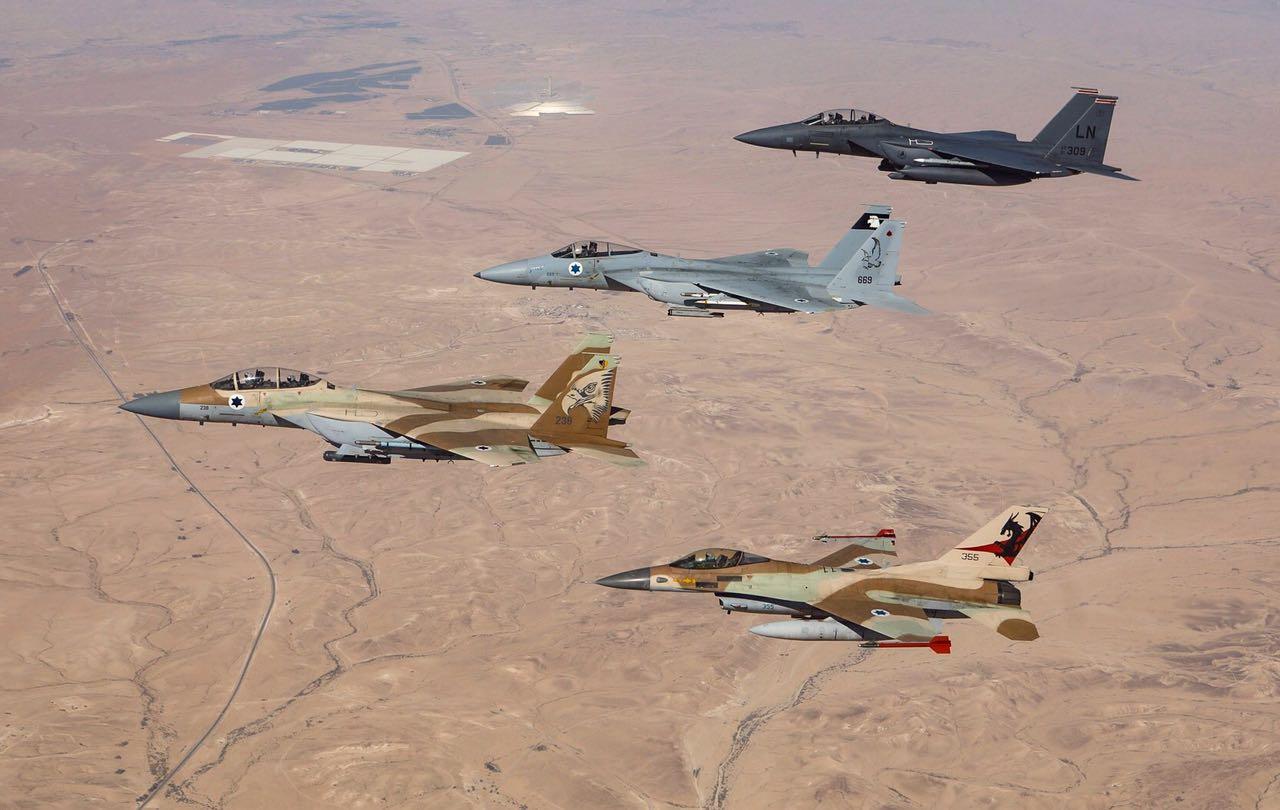 """תרגול חיל האוויר ישראל ארה""""ב"""