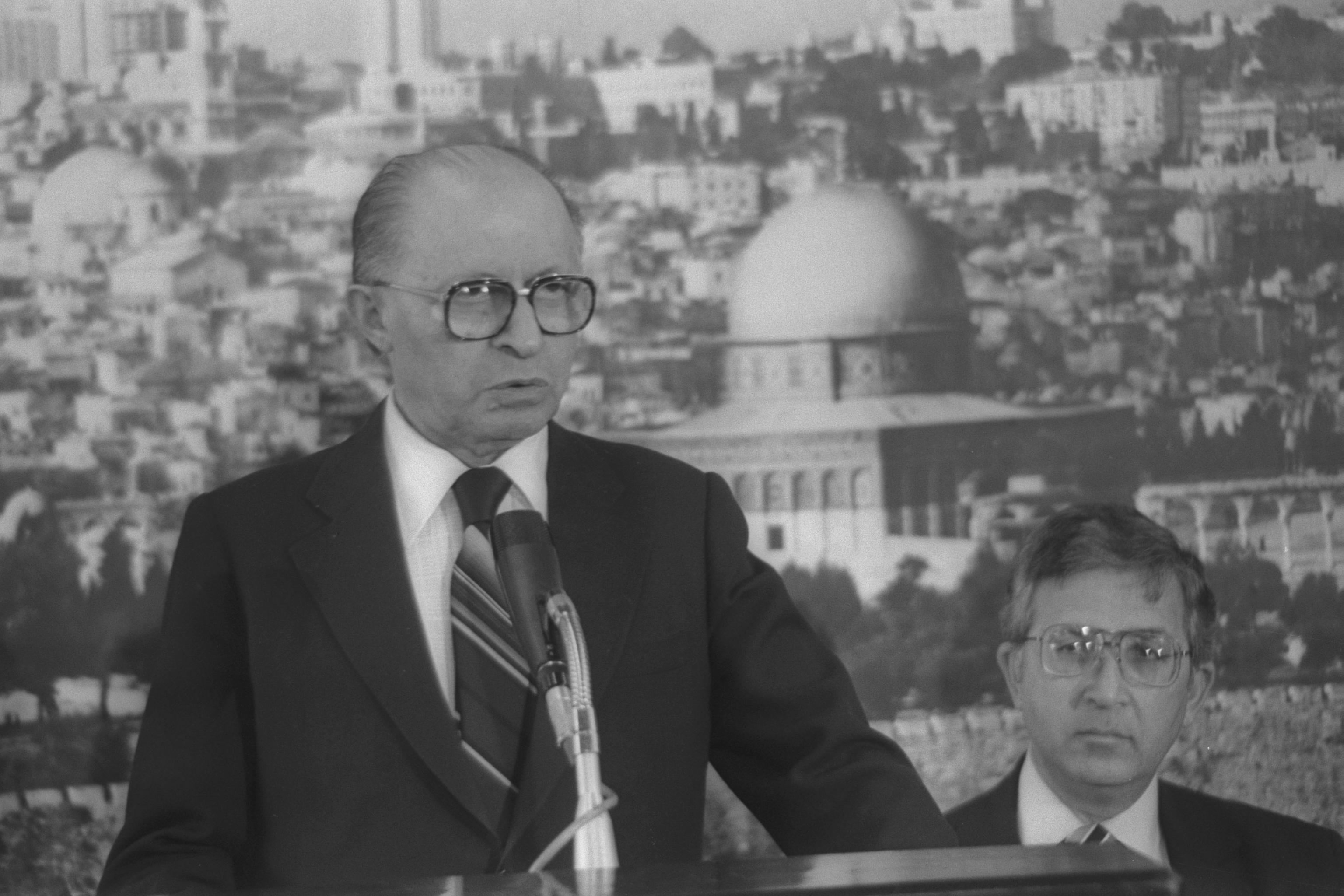 ראש הממשלה לשעבר, מנחם בגין