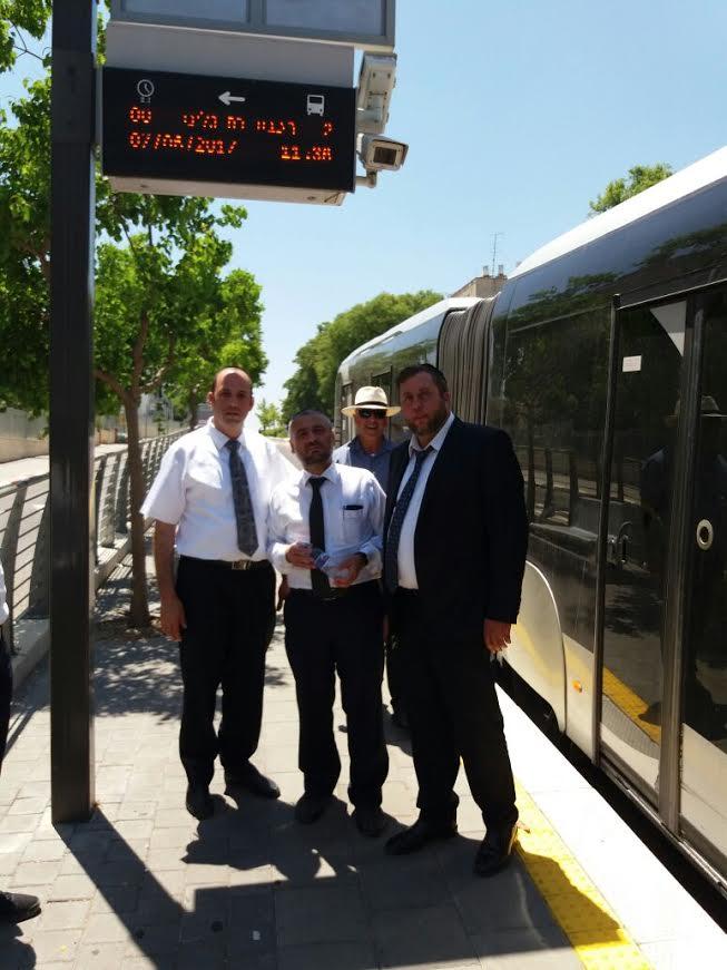 אבוטבול ומספר חברים ממועצת העיר בסיור בחיפה