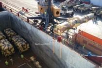 פריקת הטיל בנמל אלכסנדריה