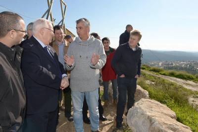 ראש מועצת קרני שומרון, יגאל להב ונשיא המדינה, רובי ריבלין