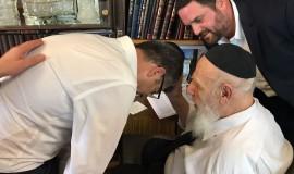 ראש העיר הנכנס מקבל את ברכת נשיא מועצת חכמי התורה, מרן חכם שלום כהן