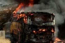 """אוטובוס של מערך ההיסעים ביו""""ש שנשרף לפני מספר חודשים"""