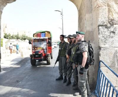 """שוטרי מג""""ב בעיר העתיקה ביום שישי האחרון"""