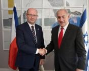ראש הממשלה בנימין נתניהו וראש ממשלת צ'כה בוהוסלב סובוטקה